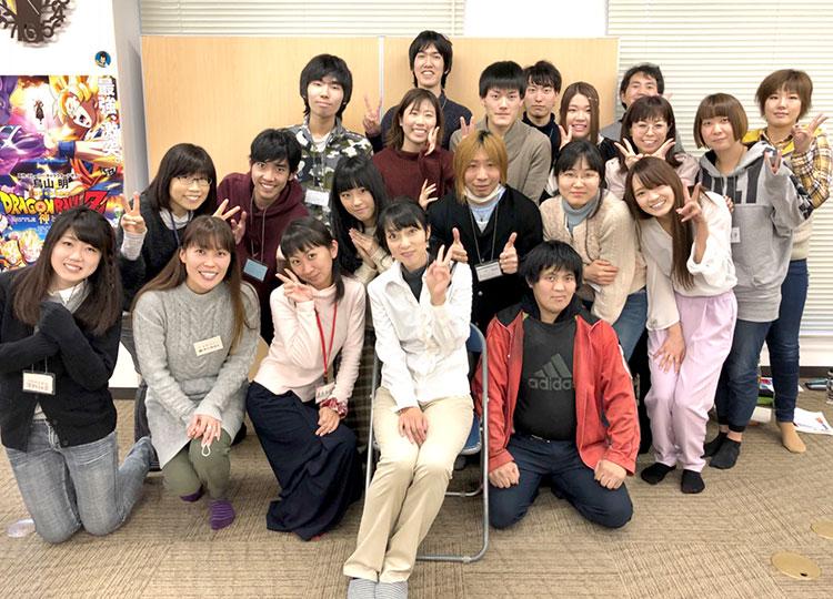 宮村優子が声優養成所の生徒を直接指導します!宮村優子と大阪校の生徒達